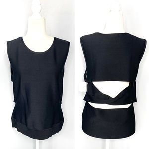 Trouve NEW Black Open Back Blouse Size XXL